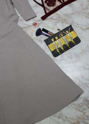 Обнова! платье открытые плечи а-силуэт беж качество h&m3