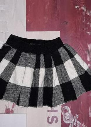 Стильная шерстяная юбка next на 1.5-3 года