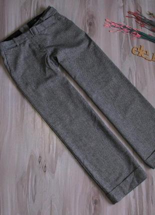 Теплые брюки клёш h&m ( шерсть/ район) размер eur 36-38
