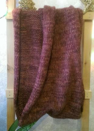 Теплый мягкий уютный шарф снуд