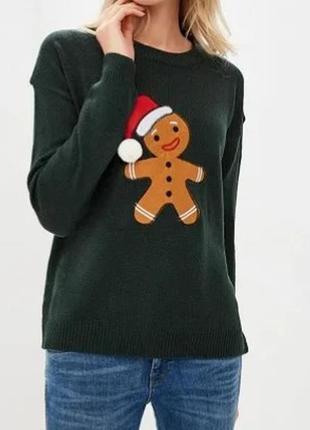 Симпатичный свитерок с печенькой,размер s большемерит
