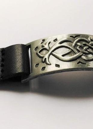 Браслет, натуральная кожа и металл, размер регулируется 18,5 см, 17 см.
