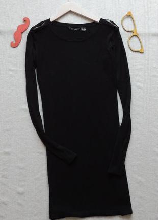 Узкое прямое трикотажное платье esmara 38/40 разер с актуальными молниями