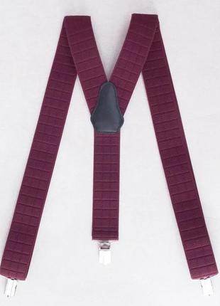 Мужские подтяжки бордовые для брюк (арт. 518)