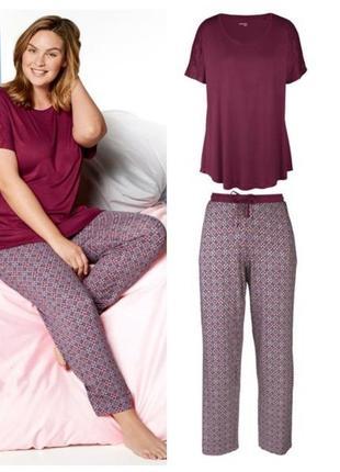 Красивая женская пижама домашний костюм esmara германия, футболка штаны, l, хl, ххl