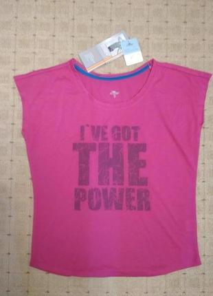Женская спортивная футболка-топ