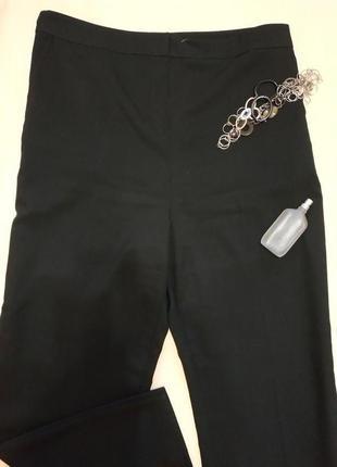 Классические черные брюки с высокой посадкой болтал р.24