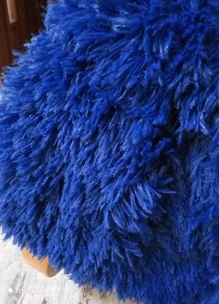 Модное покрывало травка с кожаной биркой 220на 240см евро ультрамарин