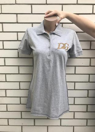 Серая футболка- поло, оригинал, люкс бренд dolce & gabbana