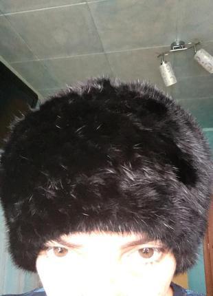 Норковая шапка-берет