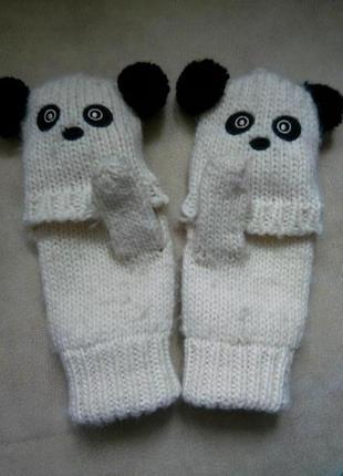 Варежки-перчатки девочке на 10-15 лет рост 140-164см