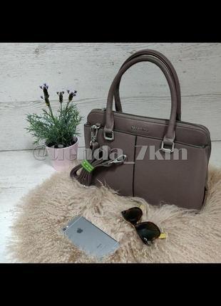 Офисная сумка от baliviya 7314 серо-розовая