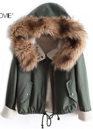 Парка куртка с мехом