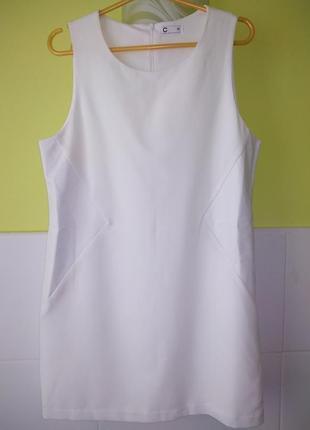 Платье с кожаными вставками от cubus