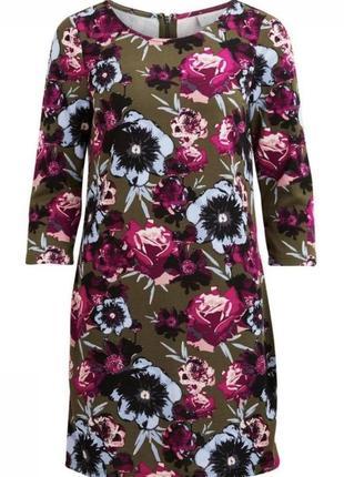 Трикотажное платье в цветочный принт vila