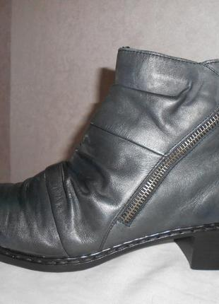Rieker antistress демисезонные кожаные ботинки, р.40