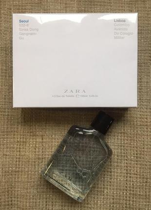 Zara seoul and lisboa духи парфуми туалетная вода 2х100мл