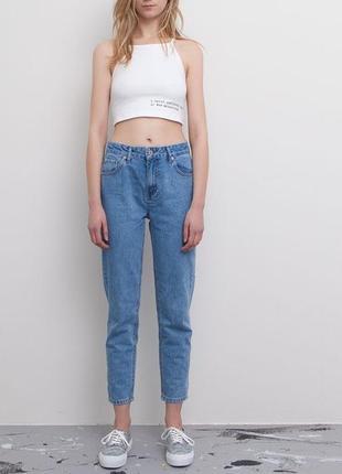 Синие джинсы штаны джинси мом mom jeans