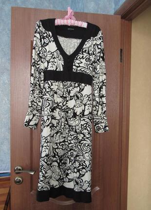 Стильное трикотажное платье миди от marks&spencer р.12 l. ограниченный выпуск!