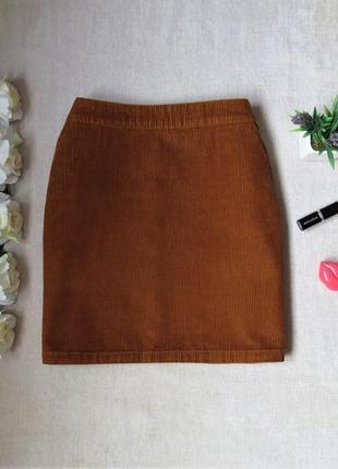 Коттоновая вельветовая мини юбка
