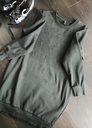 Крутой удлинённый свитшот/платье