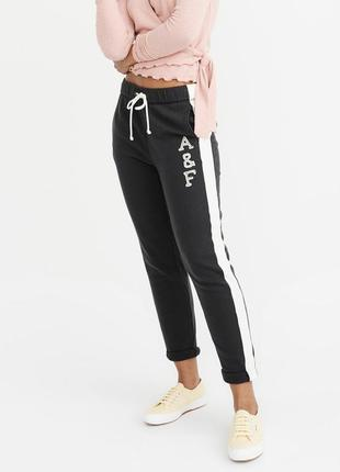 Черные спортивные штаны abercrombie & fitch