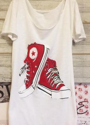 Итальянская дизайнерская футболка с принтом футболка хлопок.