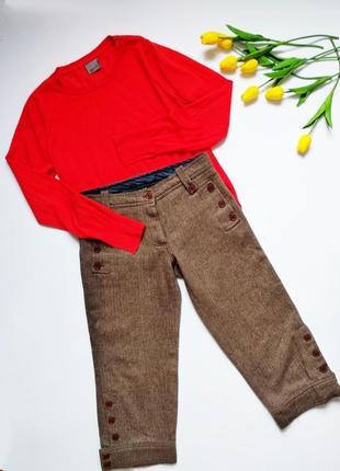 Шерстяные укороченные брюки кюлоты