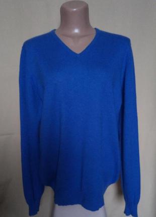 Кашемировый (30%) свитер джемпер + шерсть