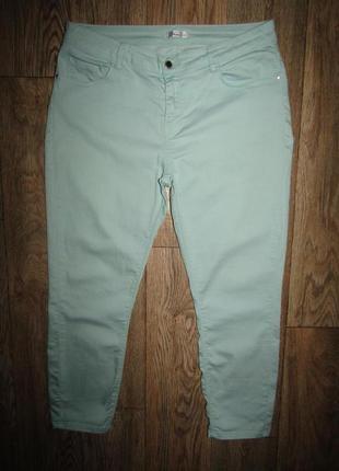 Укороченные брюки р-р хл-14 стрейч miss etam