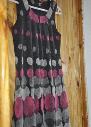 Платье шерсть теплое . под сетку шерстяное платье