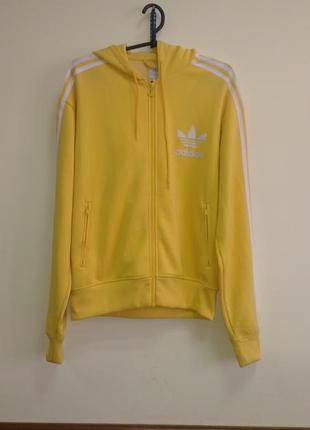 Олимпийка (мастерка)  желтая adidas оригинал, m унисекс