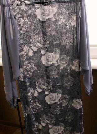 Нарядное приталенное платье в пайетках,размер хl