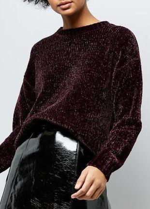 Трендовый велюровый мягкий плюшевый свитер