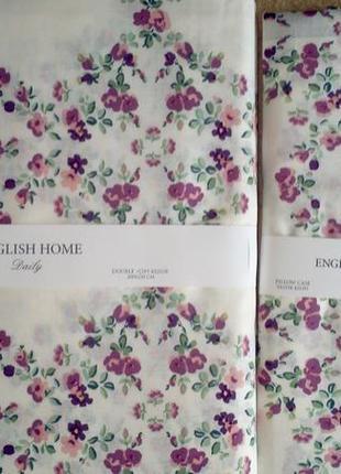 Комплект пододеяльник и 2 наволочки english home violet ivy