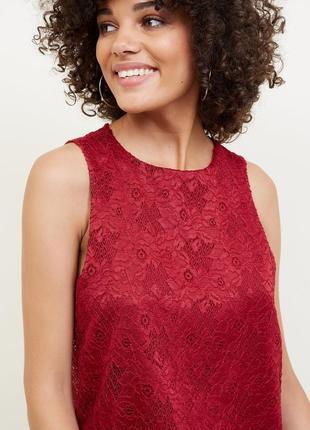 New look. кружевная блуза бургунди с просвещающей спинкой.есть размеры и разные цвета