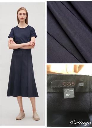 Фирменная, базовая юбка миди, годе, стильная, стройнящая, полотная ткань
