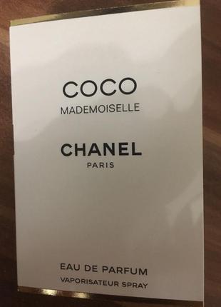 Пробник coco mademoiselle chanel парф вода оригинал