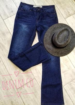 #стильные джинсы denim co темно-синего цвета немного с клешем к низу#