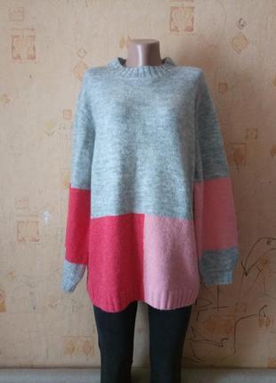 Шикарный бойфренд свитер оверсайз шерсть альпака next knitwear