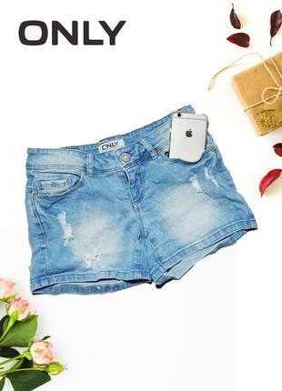 Шорты джинсовые с потертостями only