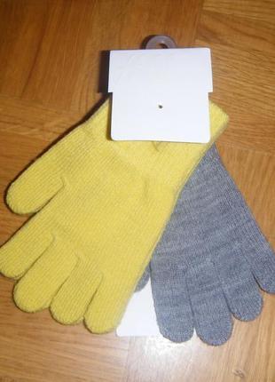 Перчатки h&m 2 шт р.1,5-4 года
