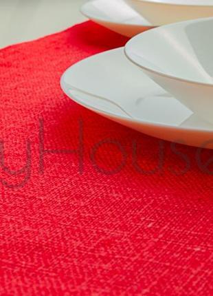 Раннер на стол «красный тюльпан» 100% лен идеально для интерьера