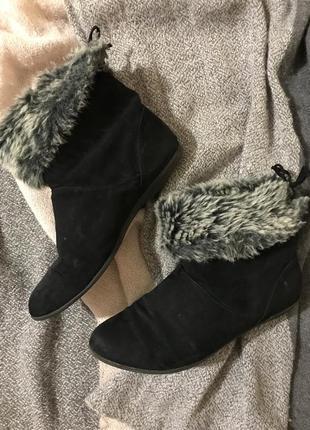 Полусапожки ботиночки под замш