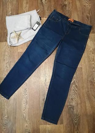 Стрейчевые джинсы ( джеггинсы), средняя посадка.