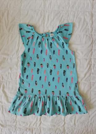 Oshkosh сарафан туника платье с листиками 5т