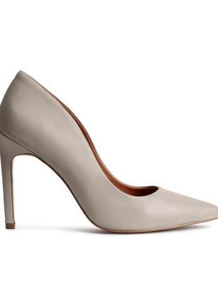 Кожаные туфли h&m premium quality размер - 38(uk 5)