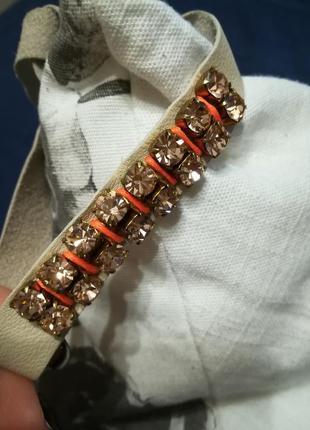 Итальянский браслет с кристаллами из натурального хрусталя