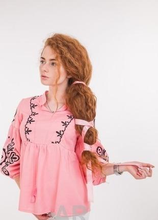 Стильна блуза вишиванка з широким рукавом