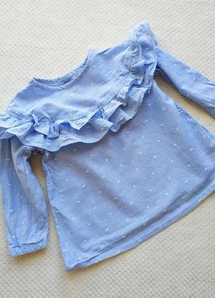 Нежная хлопковая блуза 9-12 мес.